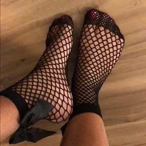 Fishnet Black Bow Socks...